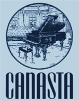 Light blue piano Canasta t-shirt